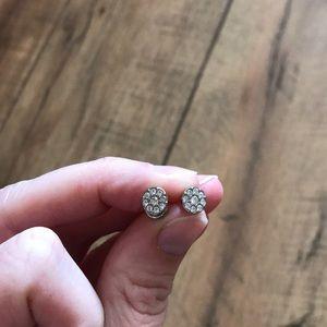 Fossil pavé earrings